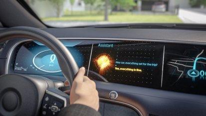 Als erste Zulieferer integrieren Continental und Elektrobit Alexa Custom Assistant von Amazon ins Fahrzeug
